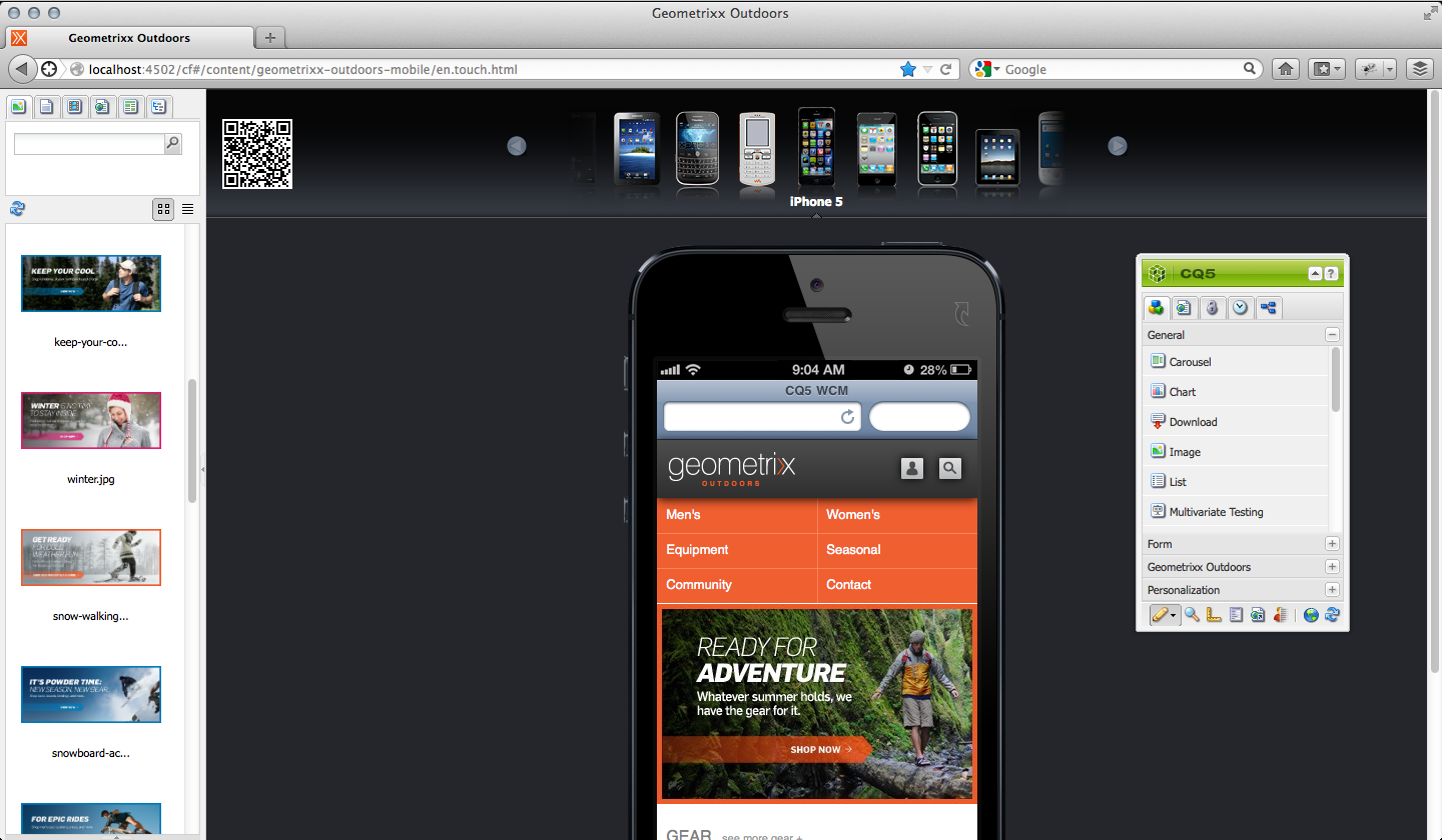 Picture of an iPhone5 in Adobe CQ5